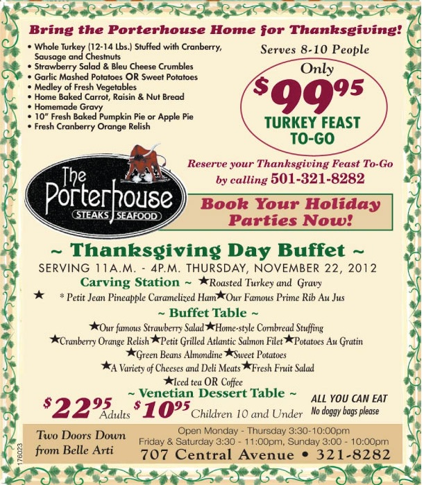 Porterhouse Thanksgiving